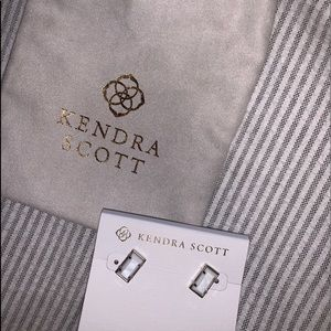 Kendra scott white square stud earrings